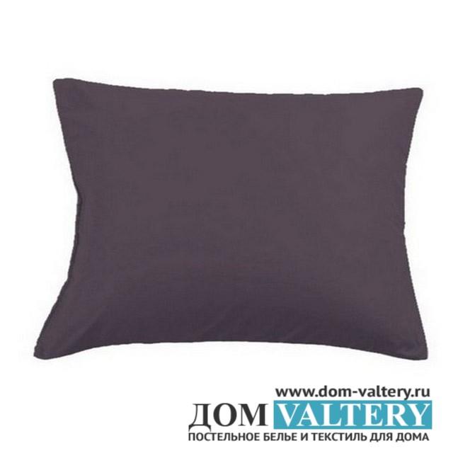 Наволочки Valtery NC-18 тёмно-серые (размер 50х70 см)
