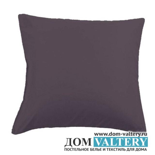 Наволочки Valtery NC-18 тёмно-серые (размер 70х70 см)
