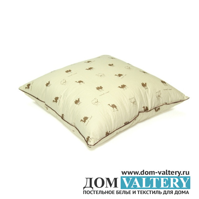 Подушка верблюжья шерсть ЛЮКС (размер 70х70 см)