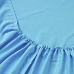 Простыня на резинке джерси голубая (размер 90х200)