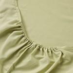 Простыня на резинке джерси оливковая (размер 140х200)