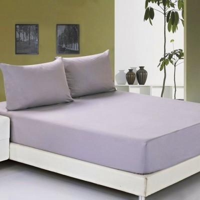 Простыня на резинке джерси фиолетовая (размер 90х200)