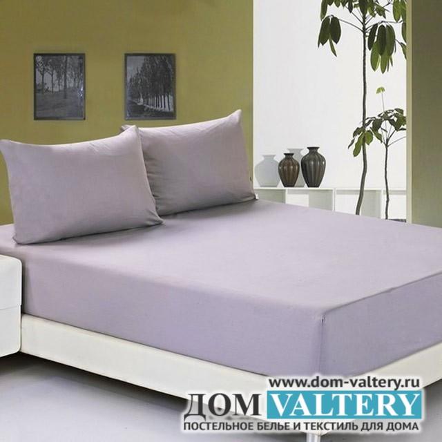 Простыня на резинке джерси фиолетовая (размер 180х200)