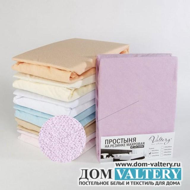 Простыня на резинке махровая фиолетовая (размер 200х200)