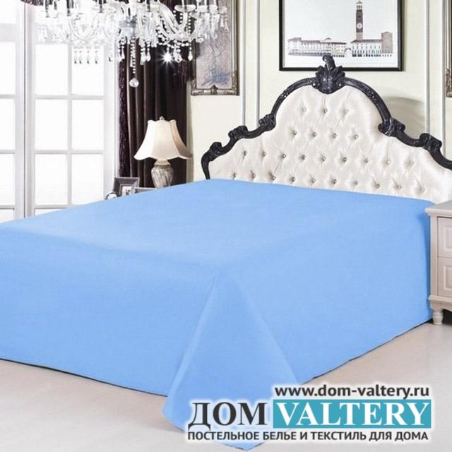 Простыня сатин голубая (размер 160х220 см)